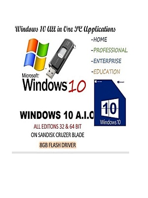 Windows Windows 10 (usb Drive) Home Pro Enterprise Upgrade Repair Install  32/64bit