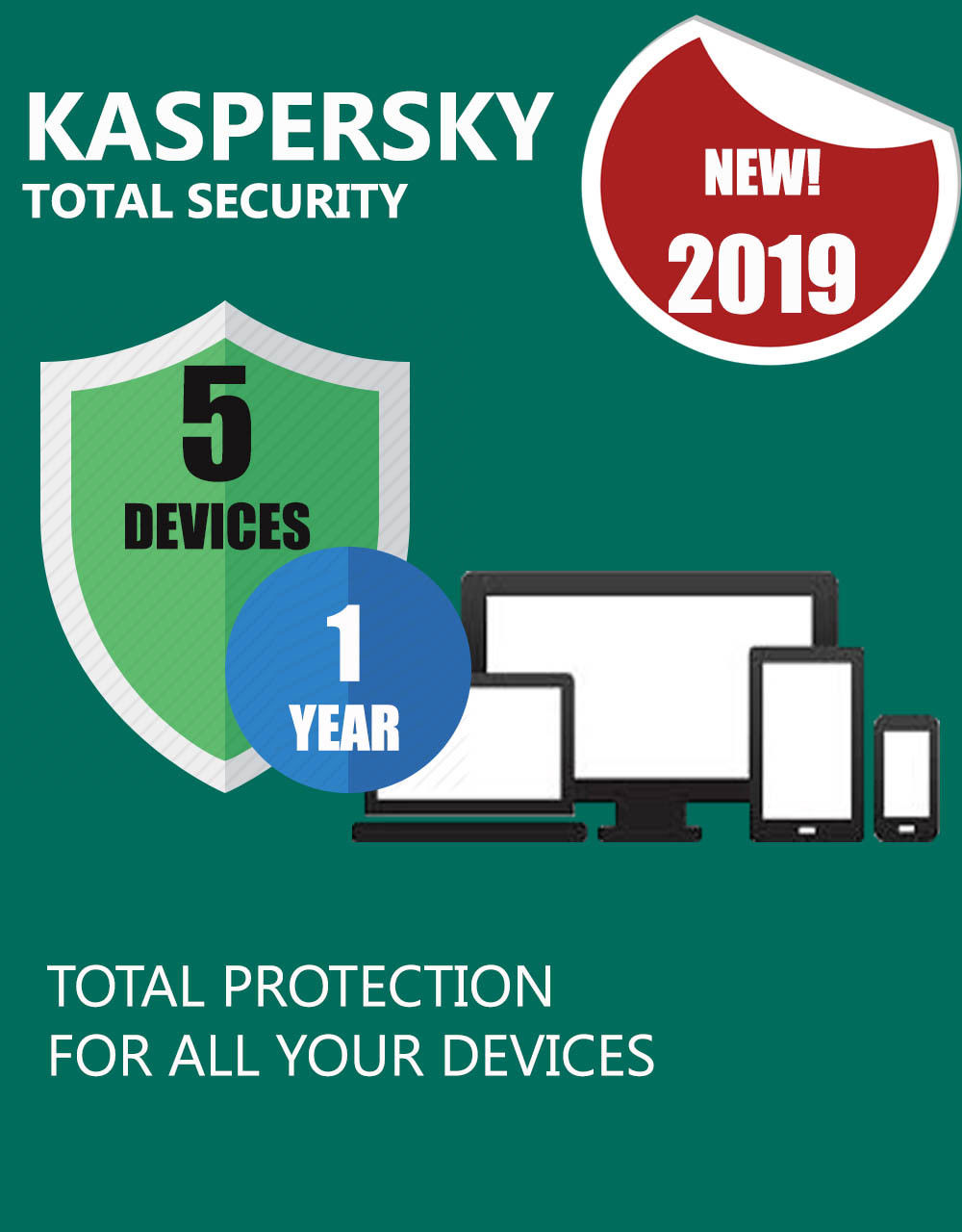 Kaspersky Total Security2019 5 Devices 1 Year Download Version